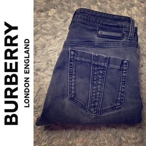 Burberry Brit Straight Leg Black Jeans